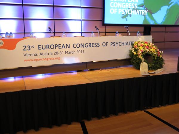 KVPM Trauerkranz auf 23 EPA Psych congress 2015-600